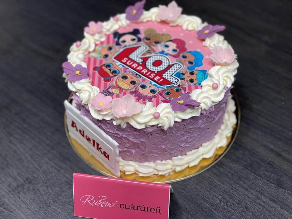 LOL torta jedlá fotka. Cukráreň Nitra